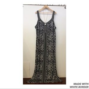 Apt. 9 Black and White Animal Print Maxi Dress